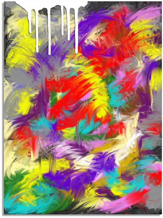 Mixed Media Digital Art - Koi Fish by Snake Jagger