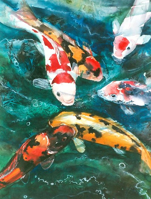Koi V Painting By Patricia Allingham Carlson