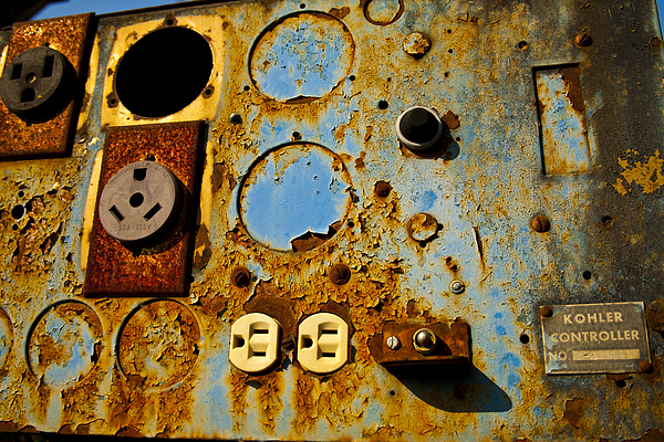 Abstracts Photograph - Kontroller Rust And Metal Series by Mark Weaver