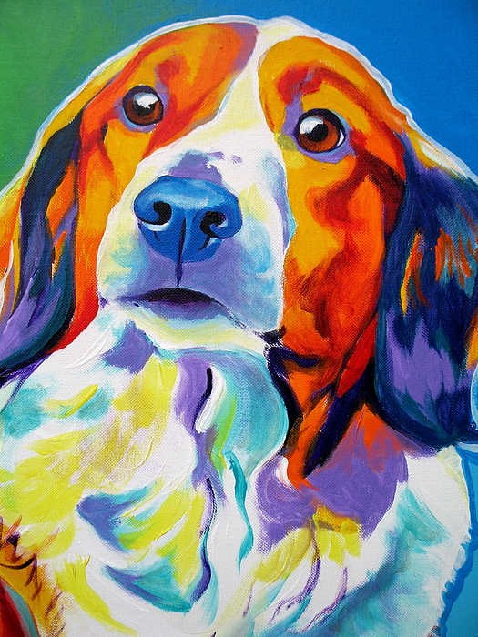 Dog Painting - Kooiker - Dakota by Alicia VanNoy Call