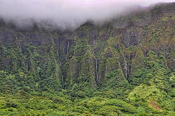 Hawaii Photograph - Koolau Waterfalls by Dan McManus
