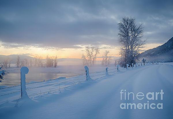 December Photograph - Kootenai River Road by Idaho Scenic Images Linda Lantzy