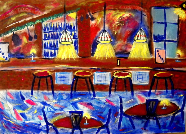Krakow Pub Painting by Ted Hebbler