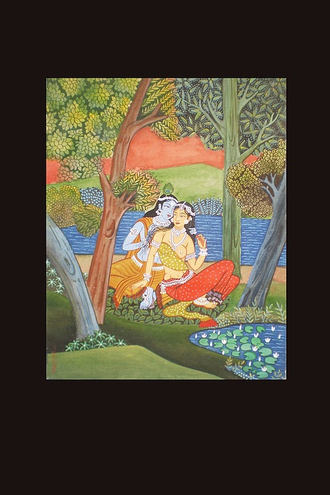 Tall Painting - Krishna Lila by Rabindra Meher