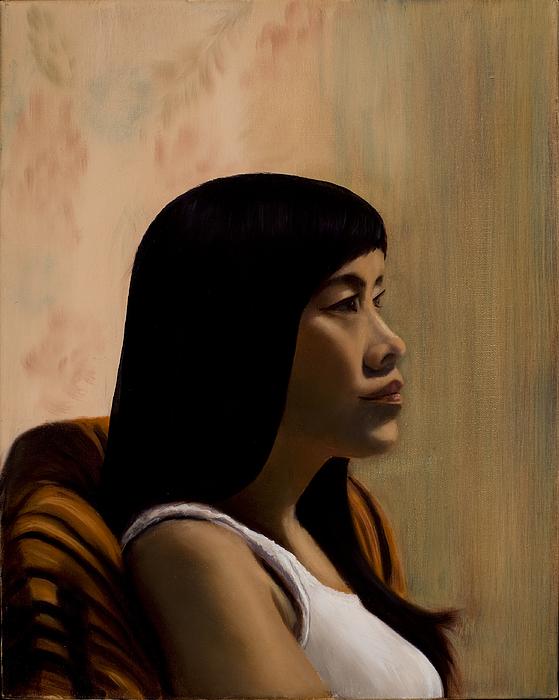 Female Painting - Kristie - 2010 by Serena Van Vranken