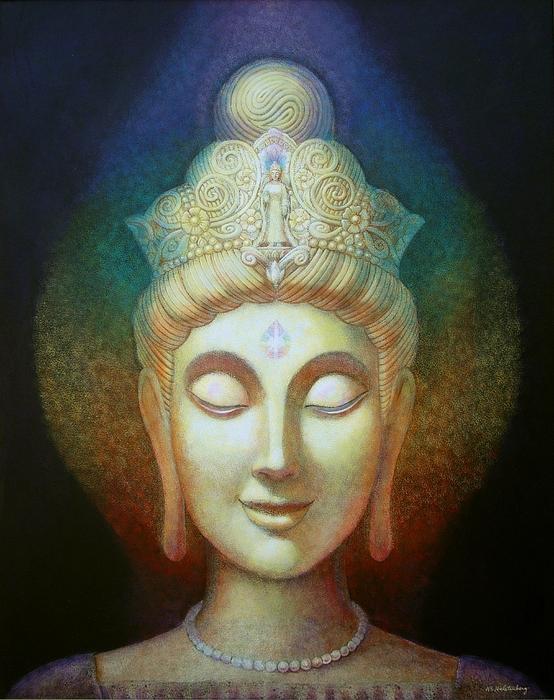 Goddesses Painting - Kuan Yins Light by Sue Halstenberg