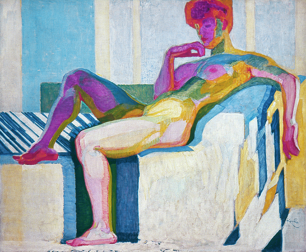 1910 Painting - Kupka Planes Nude by Granger