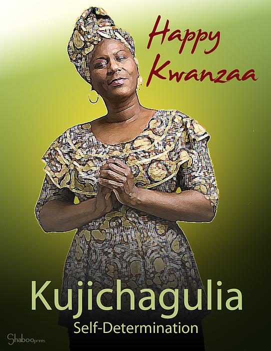 Kwanzaa Digital Art - Kwanzaa Kujichagulia by Shaboo Prints