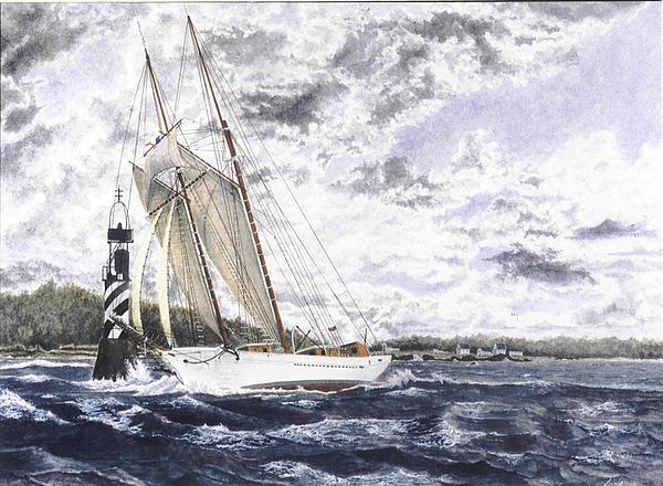 Boat Painting - La Belle Poule by Patrice Large