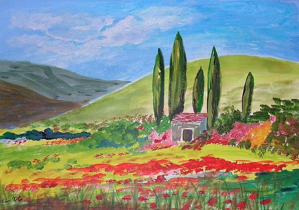 French Countryside Painting - La Campagne by Yael Eylat-Tanaka