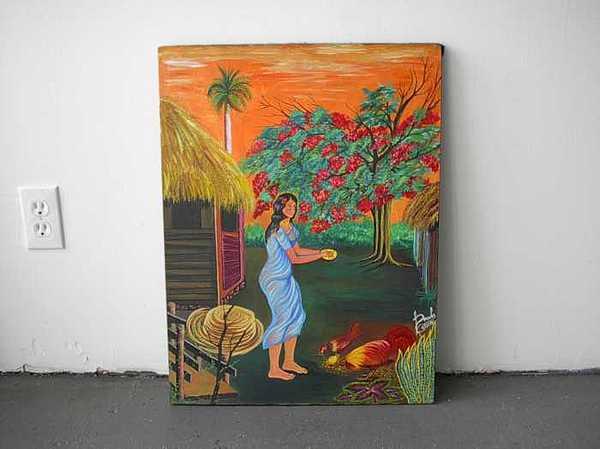 La Campecina Y Su Patio Painting by Carmelo  Prado