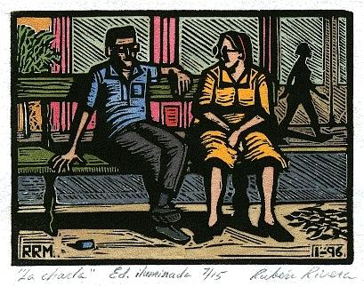 Chat Print - La Charla by Ruben Rivera