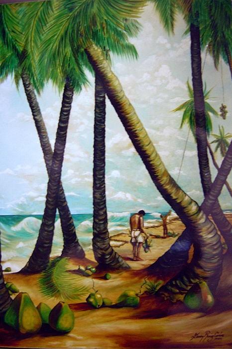 Landscape Painting - La Cosecha by Gerry Ruiz-Cirino
