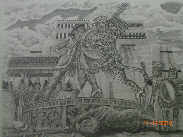 La Cultura Nahuatl Drawing by Gustavo Archundia