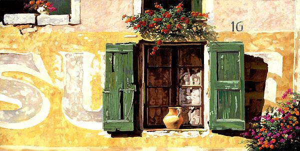 Wallscape Painting - la finestra di Sue by Guido Borelli