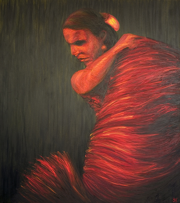 Flamenco Painting - La Gitana by LB Zaftig