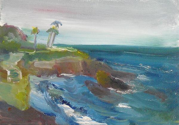 Landscape Painting - La Jolla Cove 028 by Jeremy McKay