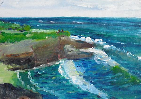 Landscape Painting - La Jolla Cove 031 by Jeremy McKay