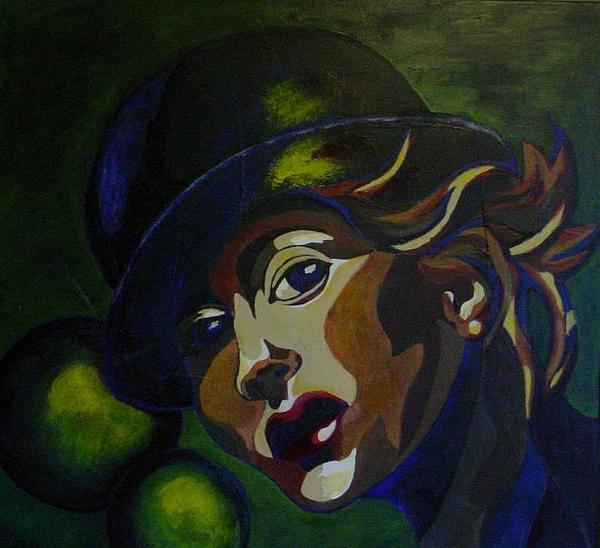 Hat Painting - La Jongleuse by Estelle St-Pierre