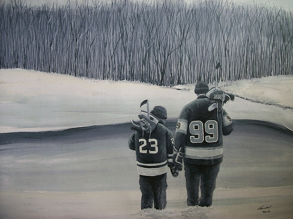 Los Angeles Kings Painting - La Kings In Black And White by Ron  Genest
