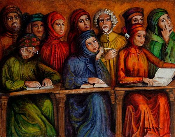 People Painting - La Lezione by Pamela Roehm