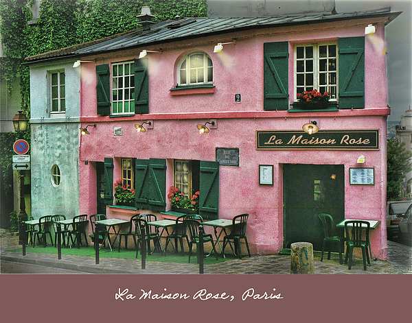 La maison rose paris greeting card for sale by ted lang - La maison basque paris ...