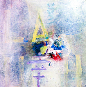Abstract Mixed Media - La Memory by Lolly Owens