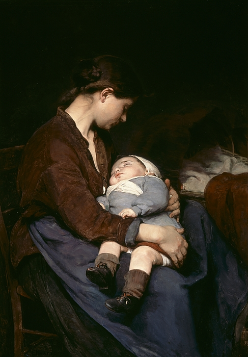 Mother And Child Painting - La Mere by Elizabeth Nourse