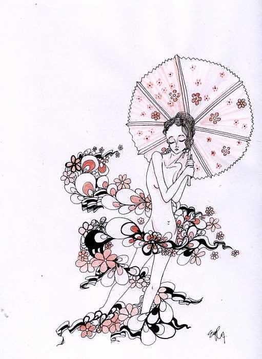 Girl Painting - La Primavera by Eli W Rockmell