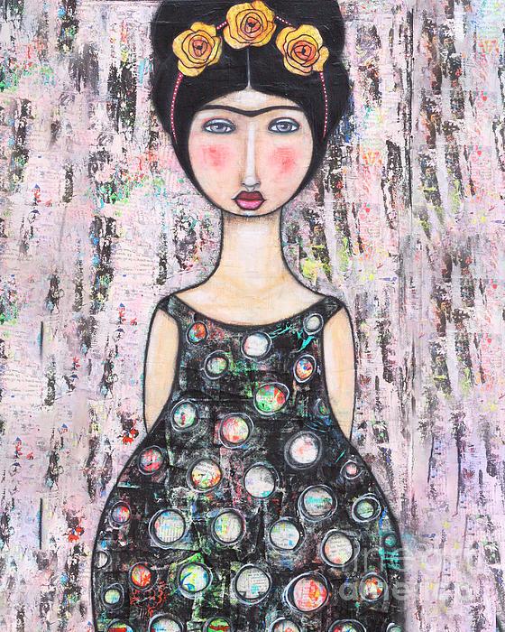 Frida Kahlo Mixed Media - La-tina by Natalie Briney