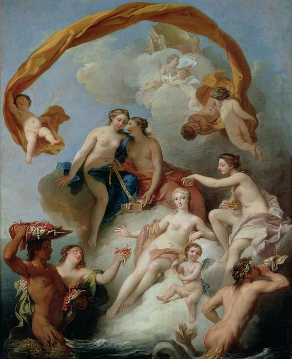 Nude Painting - La Toilette De Venus by Francois Lemoyne