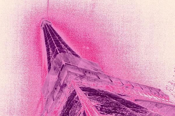 Eiffel Digital Art - La Vie En Rose by Lucie