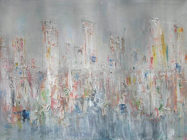 La Ville Qui Dort Painting by Patrice Brunet