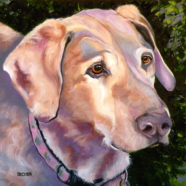 Yellow Lab Paintings Painting - Lab One Of A Kind by Susan A Becker