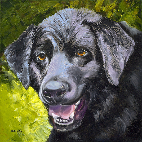Labrador Retriever Painting - Lab Out Of The Pond by Susan A Becker