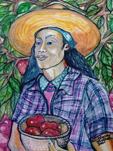 Laborer Painting - Laborer by Ruth Olivar Millan
