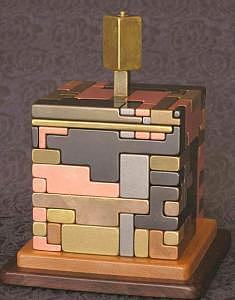 Labyrinth- Puzzling Bank 42 Pieces Sculpture by Gare Maxton
