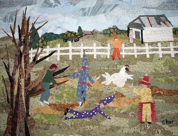 Louisiana Tapestry - Textile - Lache Pas La Poulette by Charlene White