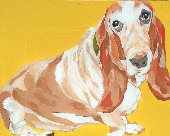 Dog Painting - Lacie by Alli Berglund