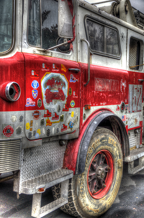 September 11 Attacks Photograph - Ladder Truck 152 - In Remembrance Of 9-11 by Eddie Yerkish