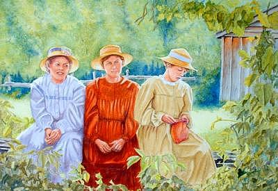 Ladies In Waiting Painting by Dave Acton