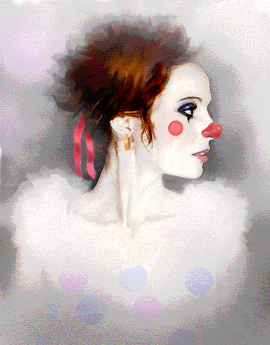 Clown Painting - Lady Clown by Robert Foster