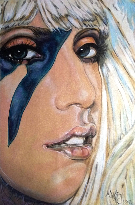 Lady Gaga Rock And Roll Music Living Legend  Painting - Lady Gaga 1 by Misty Smith