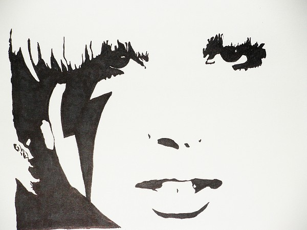 Portrait Drawing - Lady Gaga 2 by Kenneth Regan