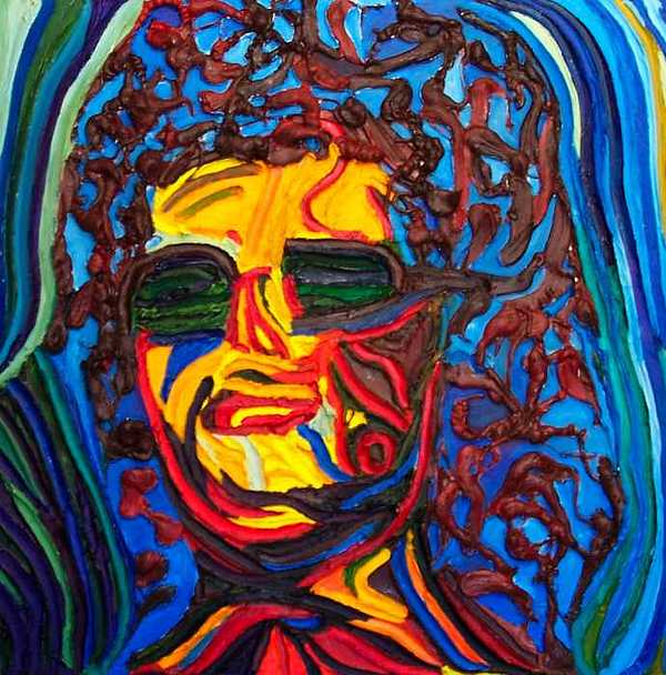 Lady In Sunglasses Painting by Ira Stark