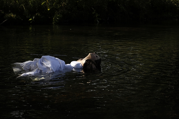Water Photograph - Lady In The River by Kelly  Burke