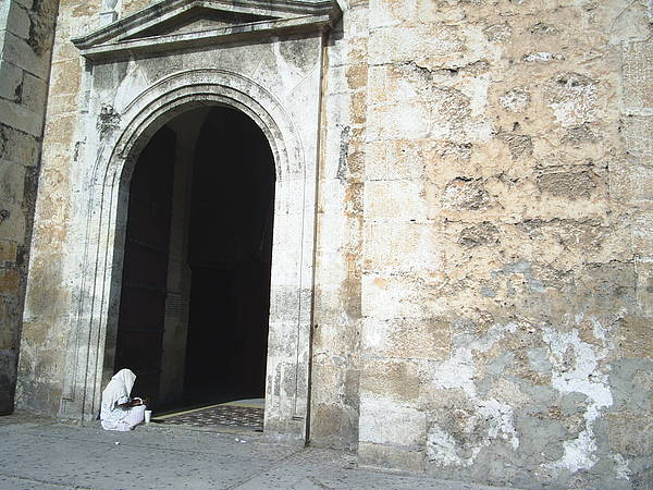 Church Photograph - Lady In White by Annie Perez