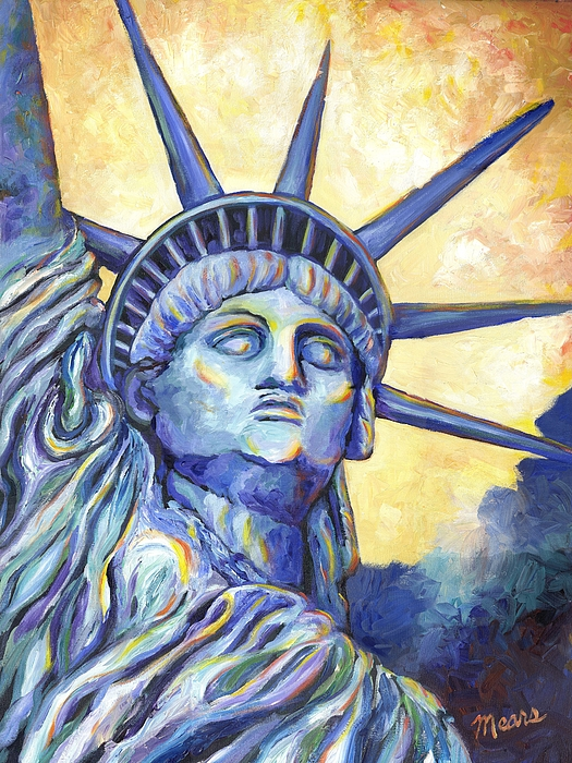 Statue Of Liberty Painting - Lady Liberty by Linda Mears