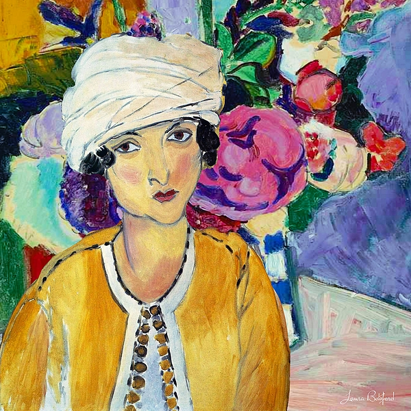 Matisse Digital Art - Lady Of Le Piviones by Laura Botsford