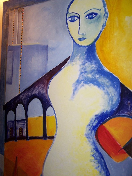 Architectonic Painting - Lady Of The Arches by Geraldine Liquidano